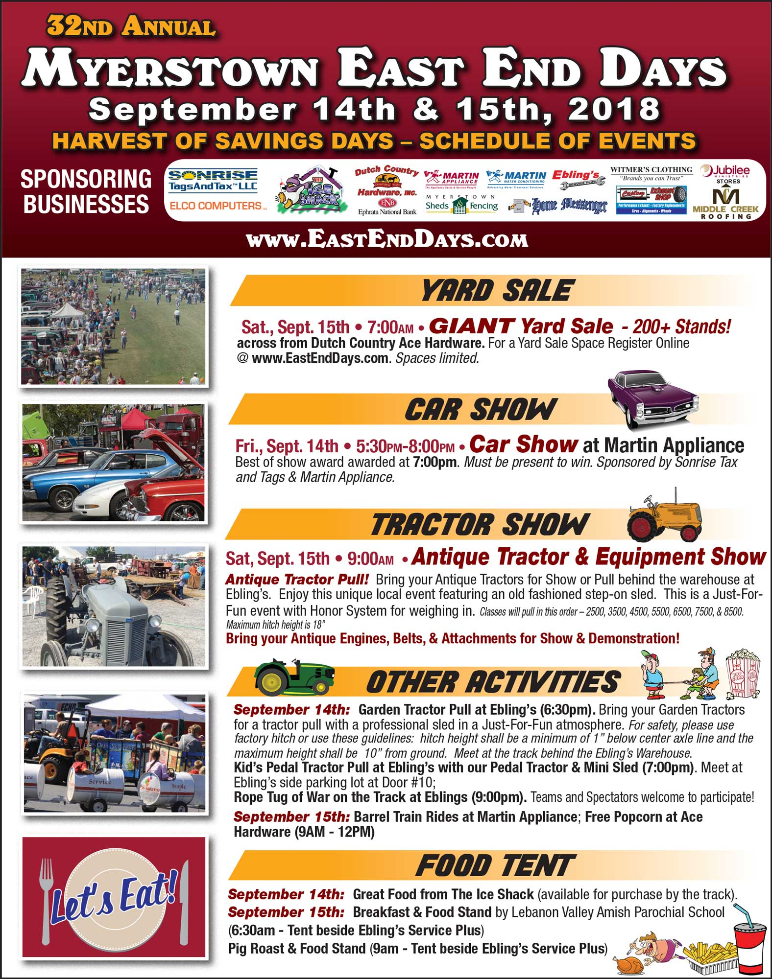 East End Days Event 900 Sept2017